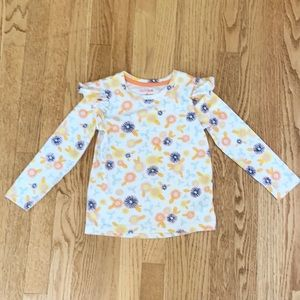 🍭6/$30 Cat & Jack Floral Ruffle Sleeve Top - 5T